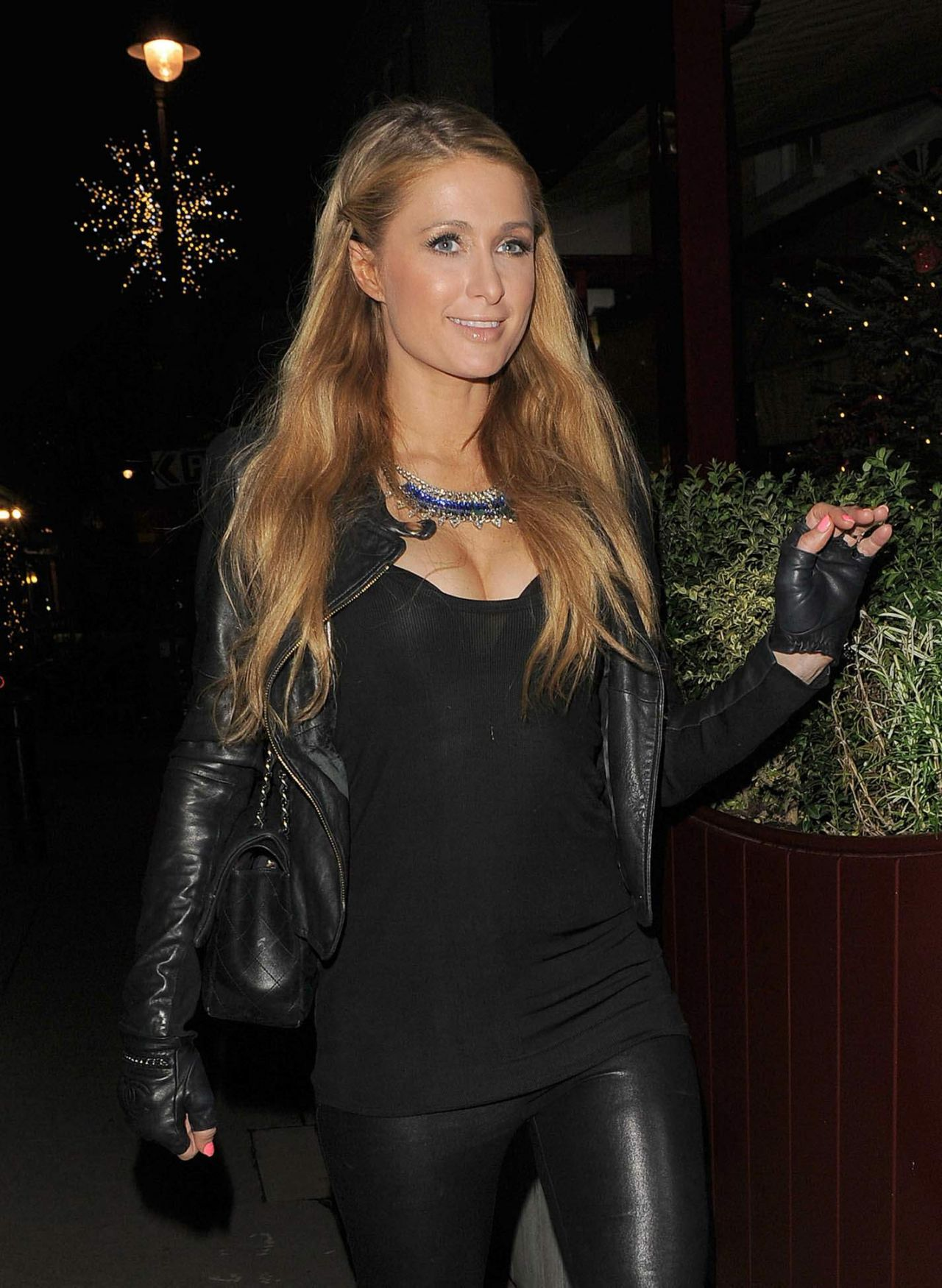 Paris Hilton Night Out Style - Out in London, December 2014