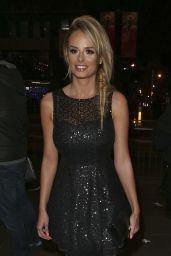 Rhian Sugden Night Out Style - arriving for Hearts & Minds Studio 54 Ball in Manchester