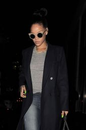 Rihanna - Arriving Back at Her Hotel After Lunch at Hakkasan Restaurant in Mayfair - Dec. 2014