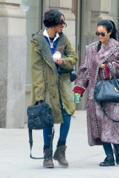 Rihanna Street Style - Out in N.Y.C. December 2014