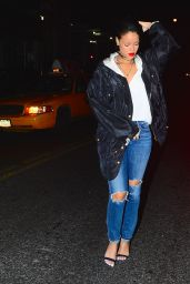 Rihanna Street Style - Out in New York City, December 2014