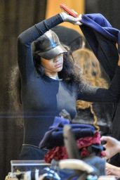 Rihanna Style - Shopping in New York City - November 2014
