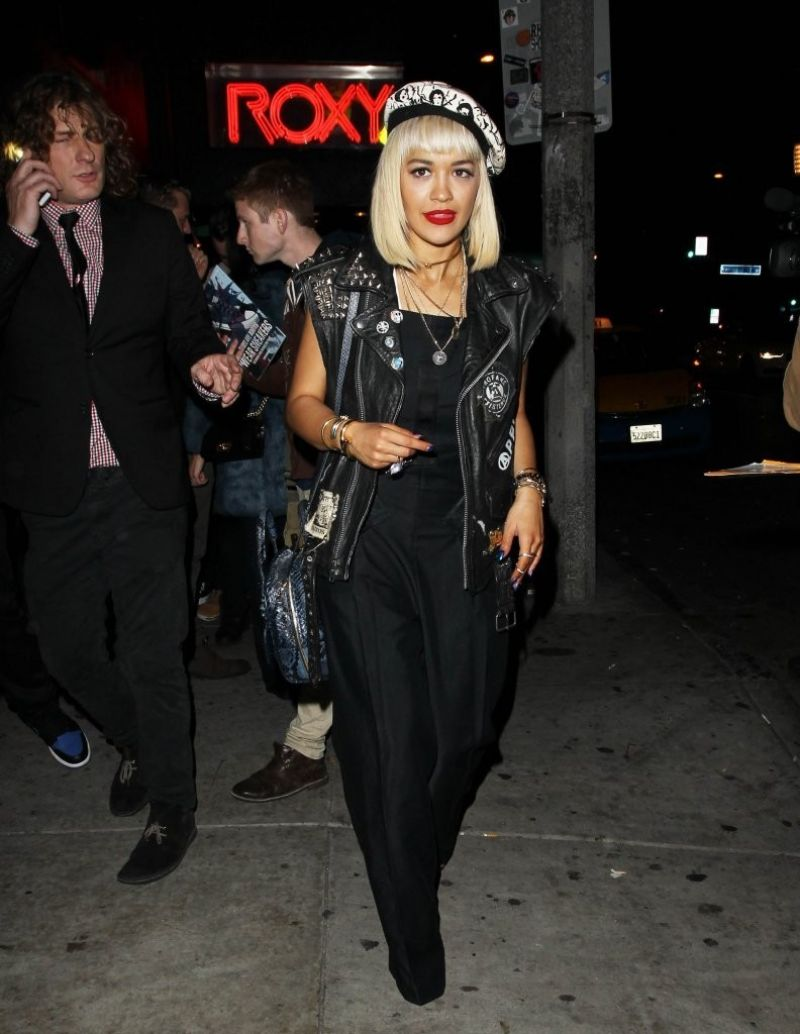 Rita Ora Night Out Style - Leaving the Roxy in West Hollywood - dec. 2014