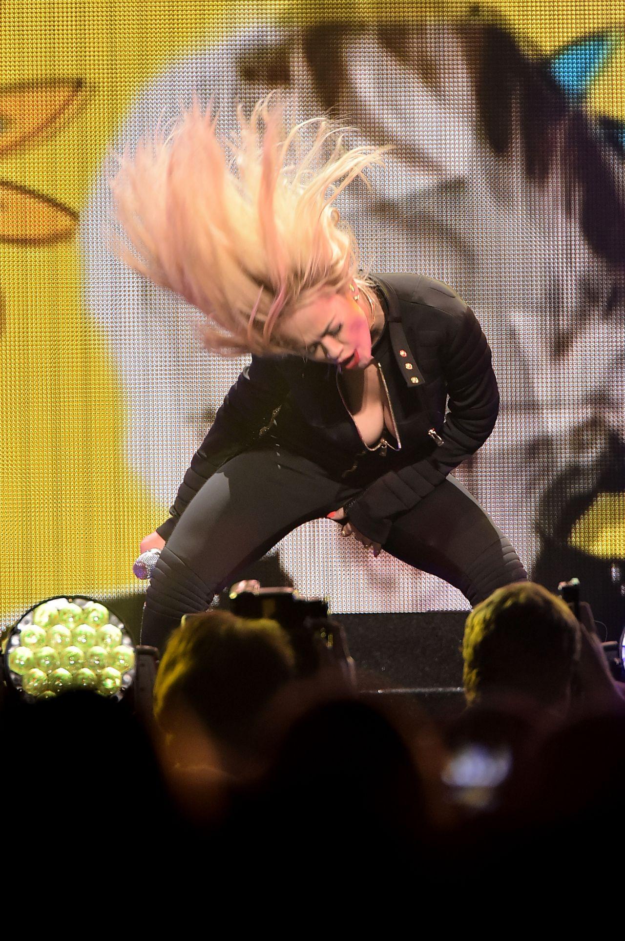 Rita Ora Performs at Q102