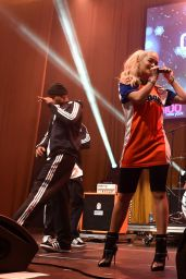 Rita Ora Performs at Z100 & Coca-Cola All Access Lounge in New York City ( Jingle Ball 2014 Pre-show)