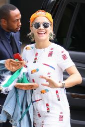 Rita Ora Style - Arriving at Staples Center in Los Angeles, December 2014