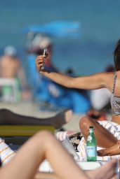 Rocsi Diaz in a Bikini - Beach in Miami, December 2014