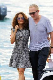 Salma Hayek on Vacations in St. Barts - December 2014
