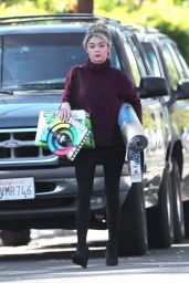 Sarah Hyland Leggy - Shopping in Los Angeles, December 2014