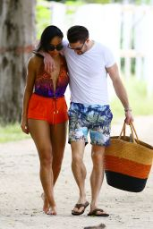 Sarah-Jane Crawford Swimsuit Pics - Beach in Barbados - December 2014