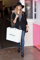 Sasha Pieterse Shopping at The Revolve Popup Store in Los Angeles, December 2014