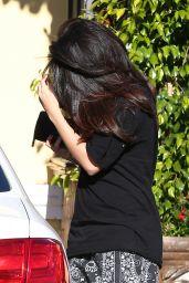Selena Gomez - Leaving Luxury Tan & Makeovers in Calabasas - December 2014