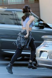 Selena Gomez Street Style - Arriving at a Recording Studio in Beverly Hills - Dec. 2014