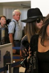 Selena Gomez Style - Departing on a Flight at LAX Airport in Los Angeles - Dec. 2014