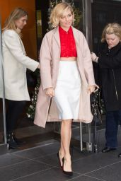 Sienna Miller Style - Leaving an Office Building in New York City - Dec. 2014