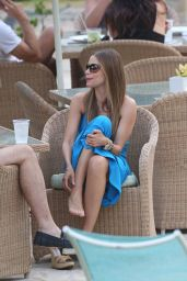 Sofia Vergara in White Swimsuit - Poolside in Hawaii - December 2014