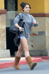 Stella Hudgens Leggy in Jeans Shorts and Boots - Out in Studio City, December 2014