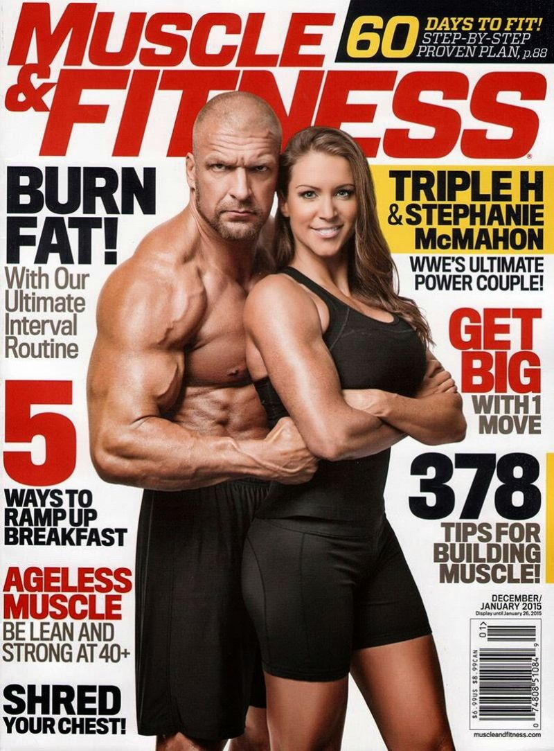 Stephanie McMahon - Muscle & Fitness Magazine - December 2014/January 2015