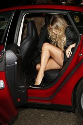 Sylvie Meis Showing Legs at the Grazia Fashion Awards 2014 in Amsterdam