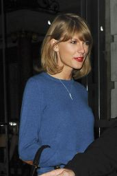 Taylor Swift Casual Style - Leaving a Hotel in London - November 2014