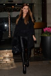 The Saturdays - Leaving a Hotel in London - December 2014