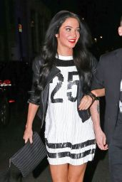 Tulisa Contostavlos Night Out Style - at the Freedom Bar in Soho - Dec. 2014