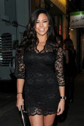 Tulisa Contostavlos Night Out Style - Kazam Mobile Launch Party in Chelsea - Dec. 2014