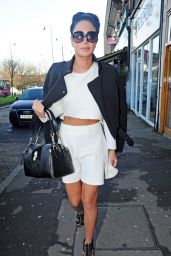 Tulisa Contostavlos Style - Out in London, December 2014