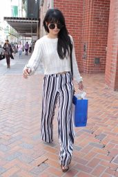 Vanessa Hudgens Street Style - Shopping in Beverly Hills - December 2014