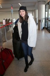 Victoria Justice Casual Style - at LAX Airport, December 2014