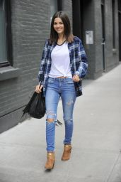 Victoria Justice Casual Style - Leaving A Lunch In Downtown NY - Dec. 2014