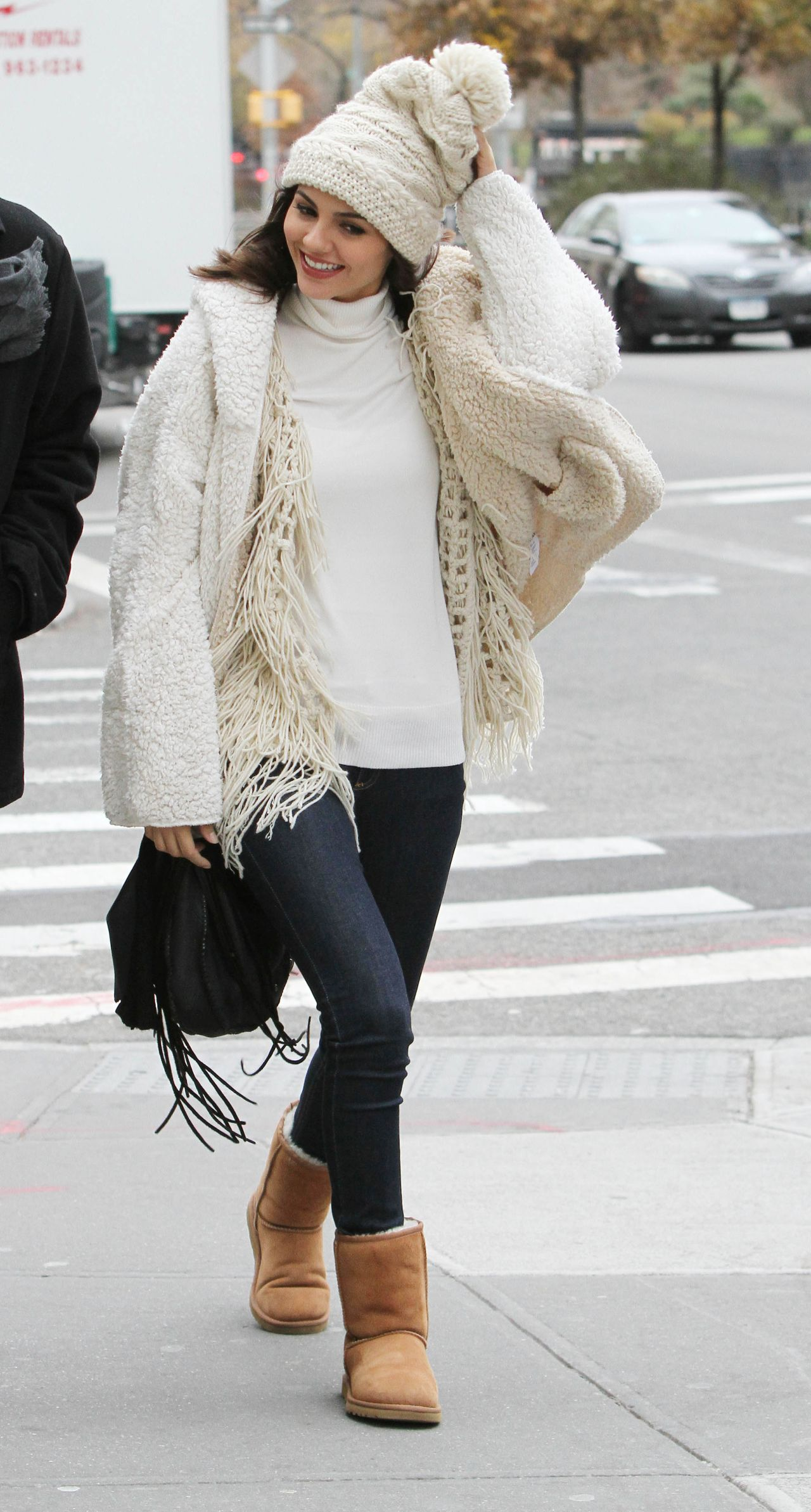 Victoria Justice Street Style Out In New York City
