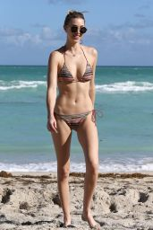 Whitney Port in a Bikini at a Beach in Miami - December 2014