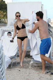 Whitney Port Wearing a Bikini - Beach in Miami, December 2014