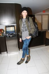 Zendaya Coleman - at LAX Airport - December 2014