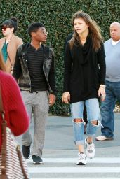 Zendaya in Ripped Jeans - Out in Los Angeles, December 2014