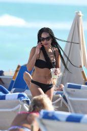Zoe Kravitz Bikini Candids - at Beach in Miami - December 2014