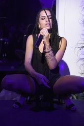 Zoe Kravitz Performs at Chrome Hearts Celebrates The Miami Project During Art Basel in Miami
