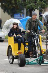 Zooey Deschanel - Filming a new Episode of the Hit FOX TV Show