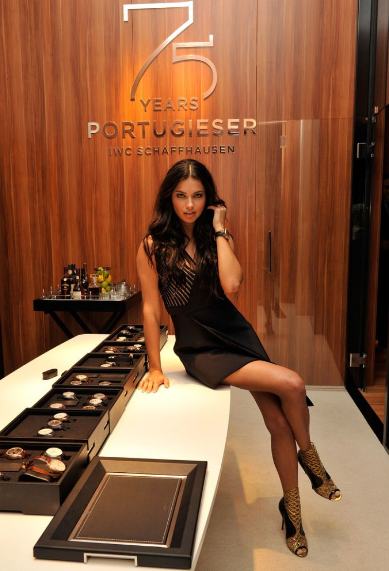 Adriana Lima – IWC Booth during the SIHH in Geneva – January 2015