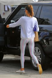 Alessandra Ambrosio in Leggings - Out in Brentwood, January 2015