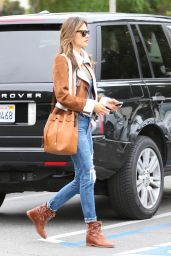 Alessandra Ambrosio in Ripped Jeans - Out in Brentwood, January 2015