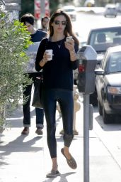 Alessandra Ambrosio Street Style - Out in Brentwood, January 2015
