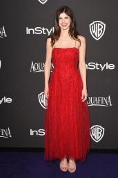 Alexandra Daddario – InStyle And Warner Bros 2015 Golden Globes Party
