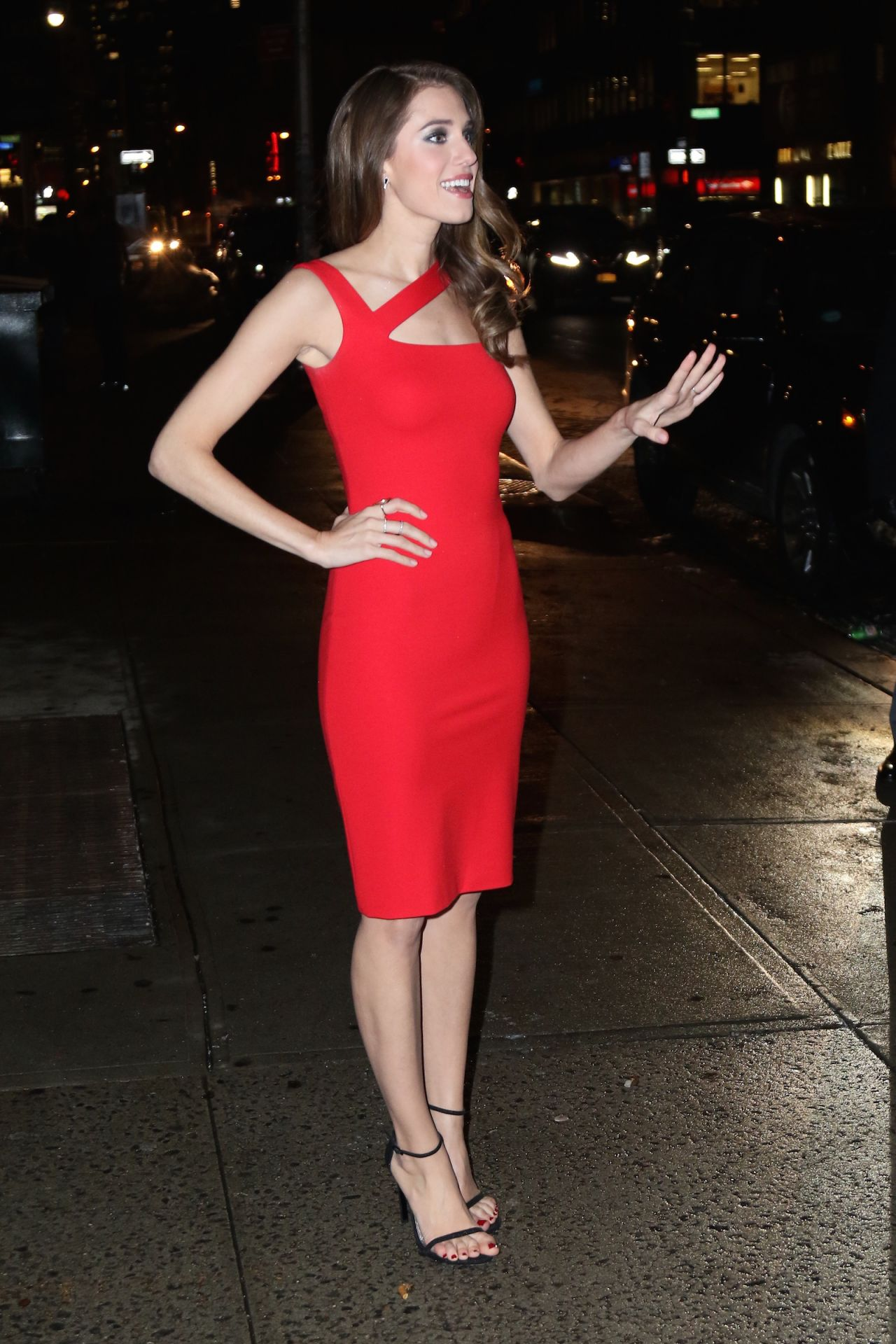 Allison Williams Visits Late Show With David Letterman