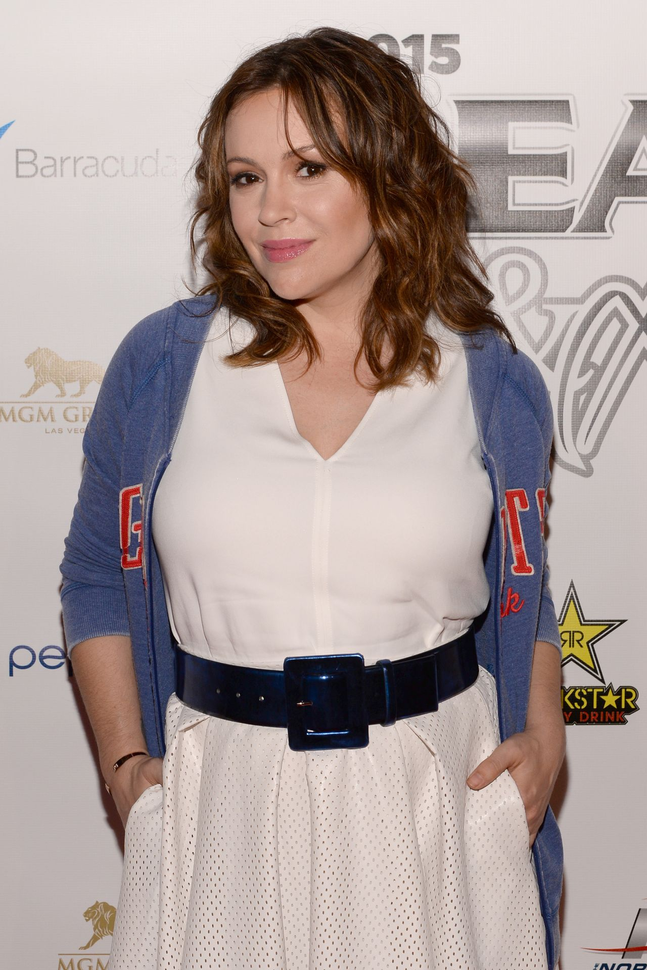 Alyssa Milano - 2015 Leather & Laces Super Bowl XLIX Party in Phoenix