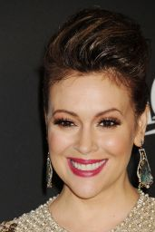 Alyssa Milano – InStyle and Warner Bros 2015 Golden Globes Party