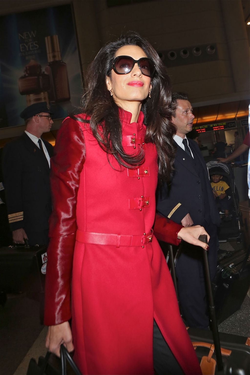 Amal Alamuddin (Clooney) Style - at Los Angeles International Airport, January 2015