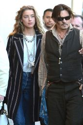 Amber Heard and Johnny Dep - Arriving to Appear on Jimmy Kimmel, Jan. 2015