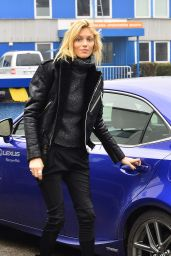 Anja Rubik Style - Out in Warsaw, Poland January 2015
